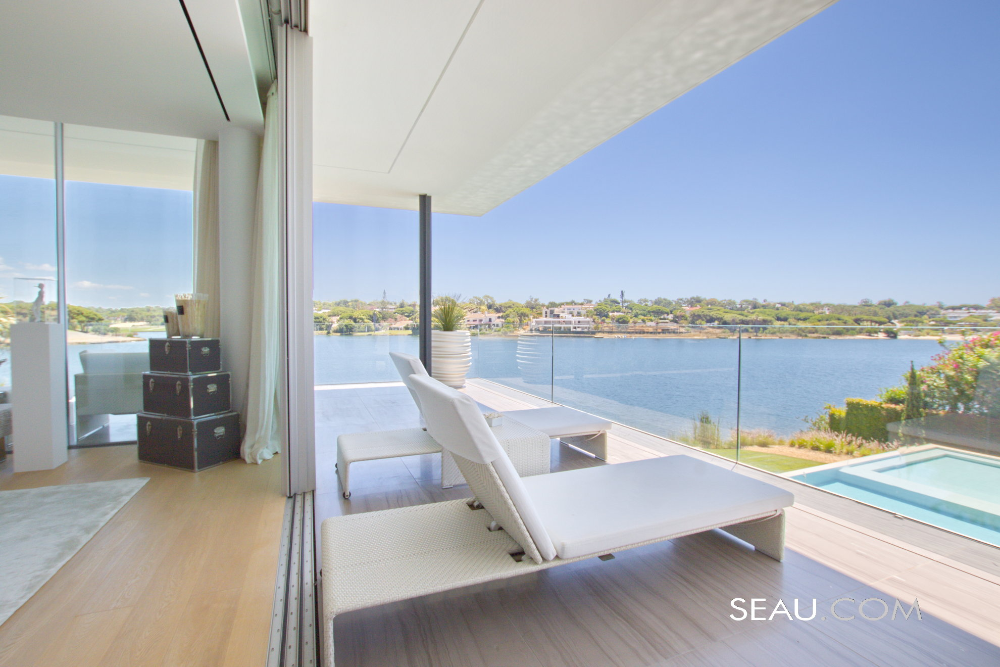 Master suite's private terrace with unbeatable views
