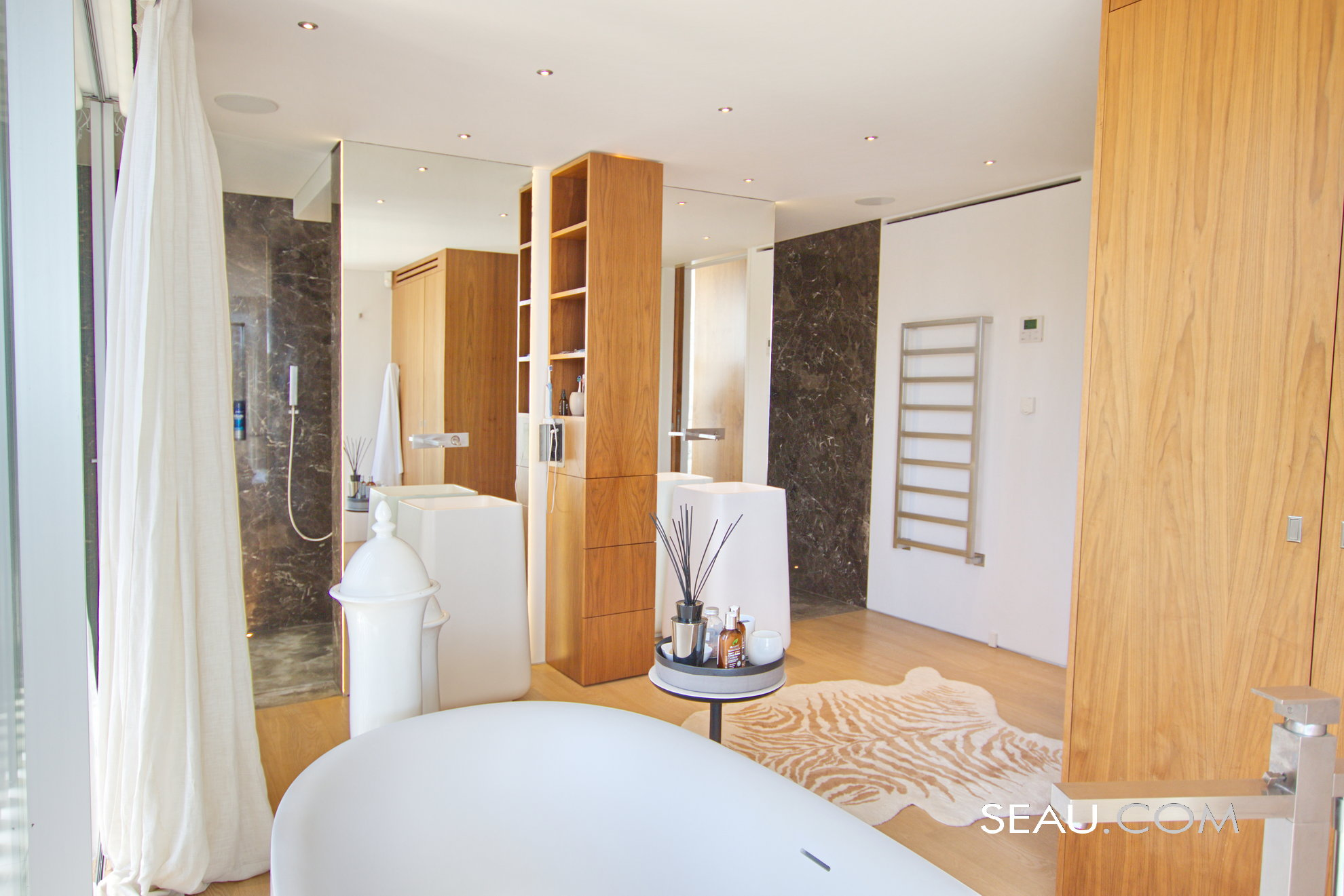 Master suite bathroom, cleverly designed