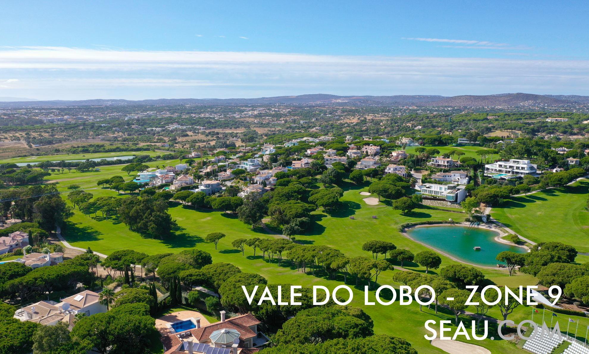 Zone 9 Vale do Lobo, einschließlich der Zonen Porta do Sol und Miragolf, umgeben vom Golfplatz Ocean